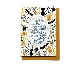 Halloween Card - Magic in the Night - Scary Halloween Card