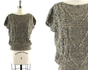 grey woven leather shirt / boho leather top / Turkish leather shirt XS/S