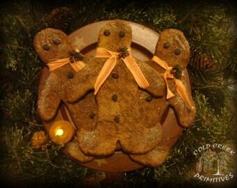 Primitive Gingerbread Cookies Set of 3
