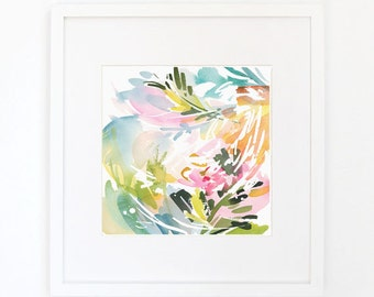 Entertained Colors No. 2 - Watercolor Art Print