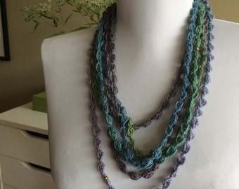 JUNGLE  Crocheted Necklace, Bracelet, 1 / 140