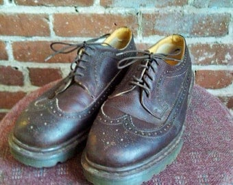 Oxford Shoes Dr Martens Originals Leather Dr Martens Made in England Brown Leather