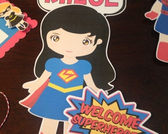 Super Hero Girl Door Sign or wall hanging