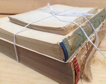Bare Book Bundle, Vintage Upcycled Home Decor, Shabby Chic, Wedding Decor, Photo Prop (036.1)