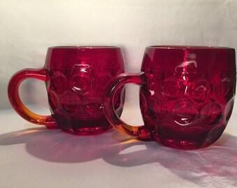 New Martinsville Red Glass Mug (2)
