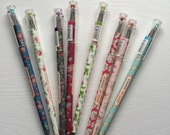 0.5 Floral Gel Pen - Black Ink - Romantic - My Garden