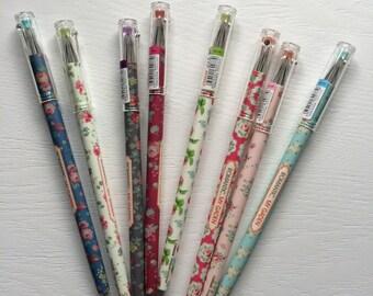 0.5 Floral Gel Pen - Black Ink - Romantic - My Garden