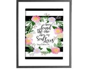 Song of Solomon 3:4 - I Have Found the One whom My Soul Loves - INSTANT DOWNLOAD - Printable Wall Art