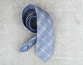 Linen Tie 'Prufrock' Print on Fife Linen Made in Scotland