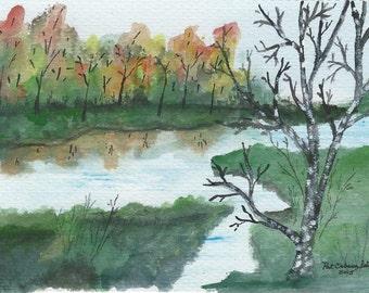 Fall - Original 5x7 Watercolor