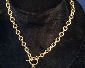 Toggle clasp necklace 18 in chain
