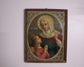 Ancient rectangular frame Nouveau, Art Noveaux print
