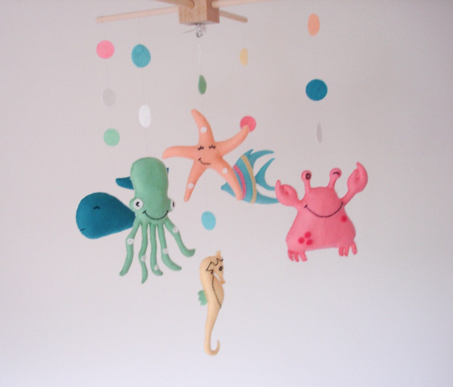 Baby mobile nursery mobile sea creatures sea mobile for Sea animal baby mobile