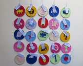 25 felt Jesse Tree ornaments - Our DELUXE 'Adventus Laetus' set - with hooks and tags