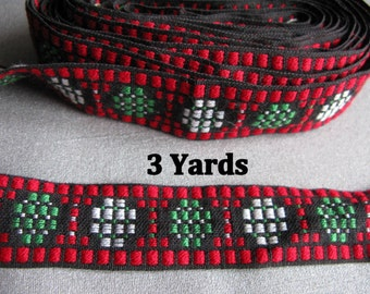 Inkle Woven Trim Vintage Trim 3 yards Embellishment