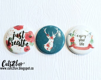 "3 badges 1 ""Just breathe"