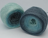 """Gradient Dyed Silk / Bamboo Yarn , Lace weight, """"Sky"""""""