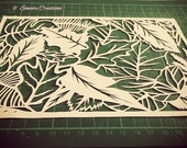 PERSONAL USE - Cut it yourself 'Leaf Cover'' papercut template