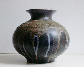 Mid Century Steuler ceramic bulbous vase germany WGP