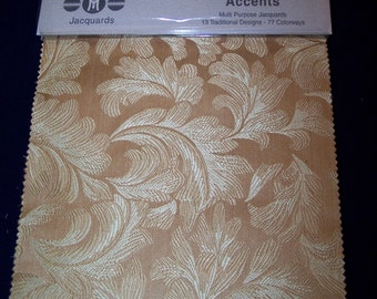 MichaelsTextiles Accents Jacquards- Fabric Sample Book # 1283 for crafting