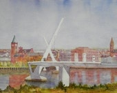 Across The Foyle. Derry landscape, Made in Ireland. LondonDerry Bridge.