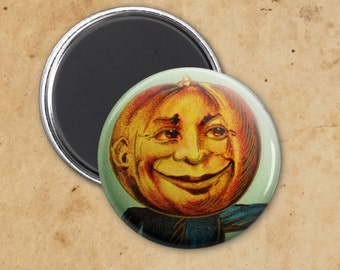 Pumpkin Headed Man Vintage Halloween Magnet