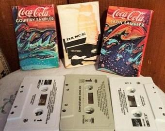 Coca Cola - 3 sponsored cassette music tapes