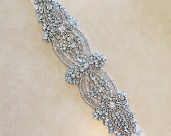 SALE - Wedding Belt, Bridal Belt, Sash Belt, Crystal Rhinestone - Style B21177