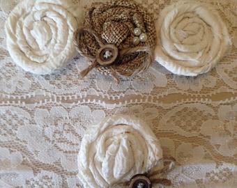 Rustic Wedding Garter, burlap garter, garter set, ivory garter, barn wedding, garter, burlap garter, rustic garter set, the heritage bride