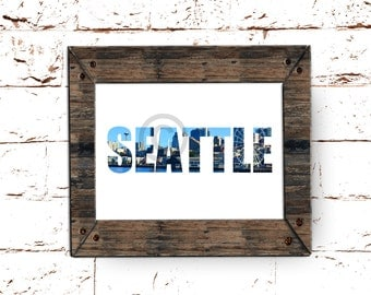 Seattle Skyline print, Downtown in all it's glory, Instant Digital Download for your Home, 8 x 10 Printable Image