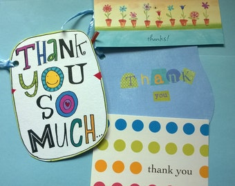 THANK YOU 4-pack Upcycled Gift Tags