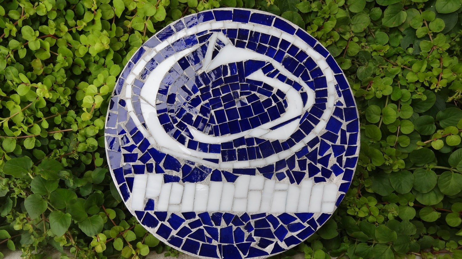 Penn State Nittany Lions Stained Glass Stepping Stone Garden