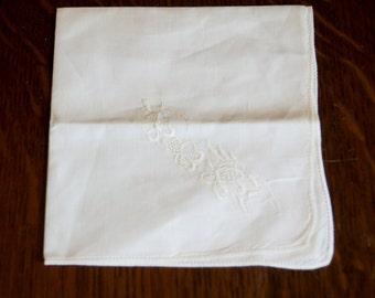 Vintage White Handkerchief