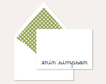 Preppy Gingham Personalized Stationery