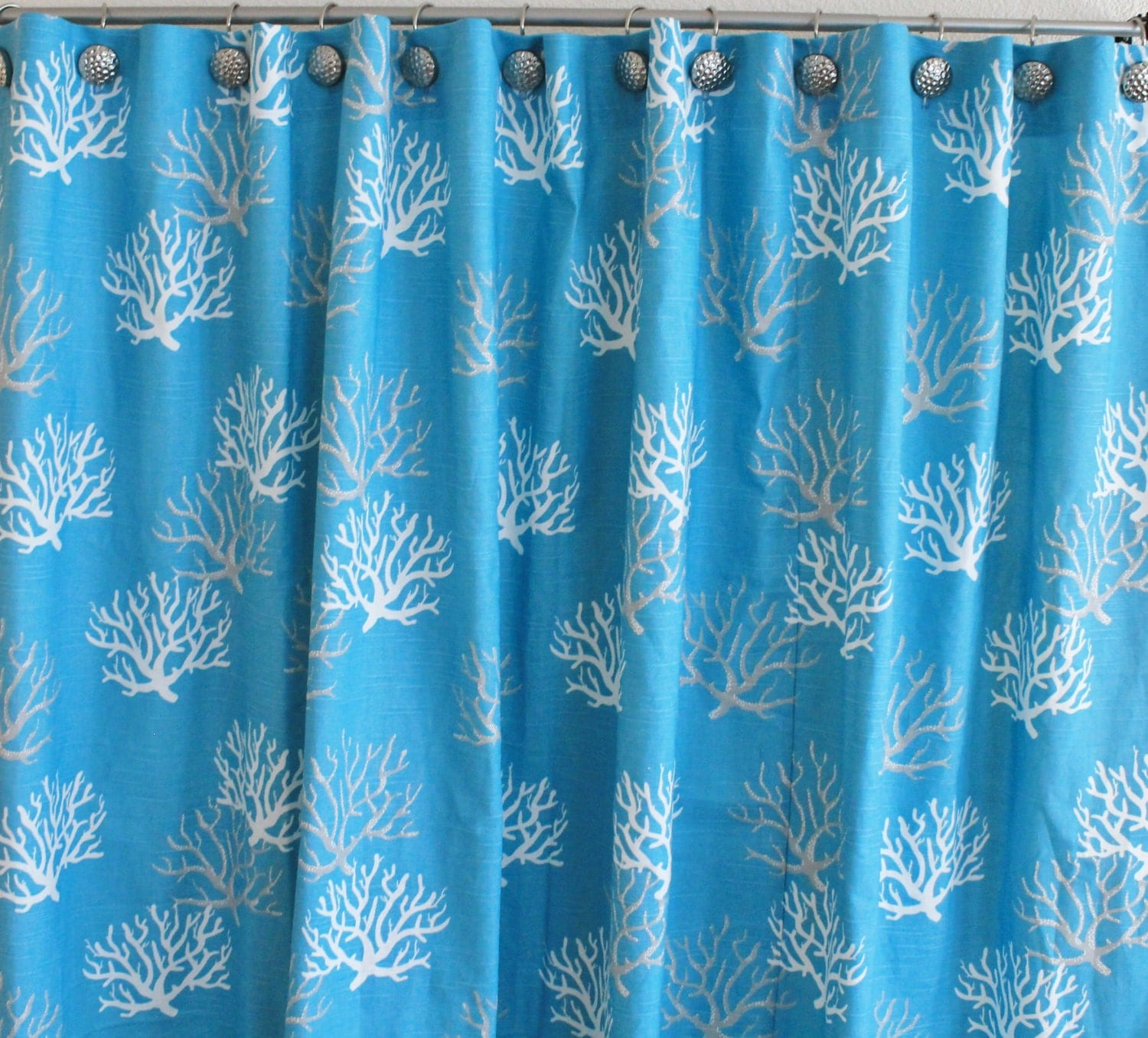 Fabric Shower Curtain 72 Wide Premier Print Coral