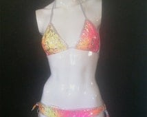 exotic dancewear ,scrunch butt bikini ,exotic dancer ,stripper outfit ,sexy bikini ,exotic swimwear ,tie dye bikini