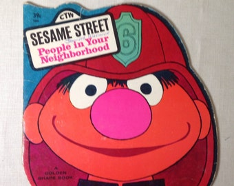 People In Your Neighborhood Book 1971 Golden Shape Vintage Childrens Sesame Street Muppets 70s
