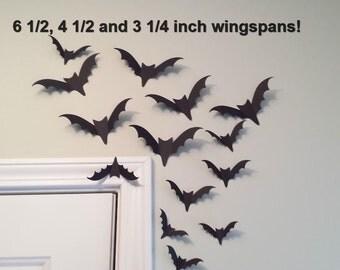 Black Bat Paper Bat Wall Decor Halloween Wedding Bat Bat Party Halloween Paper Bat Flying Bat Photo Prop Bat Wall Decor 15 Die Cut Paper Bat