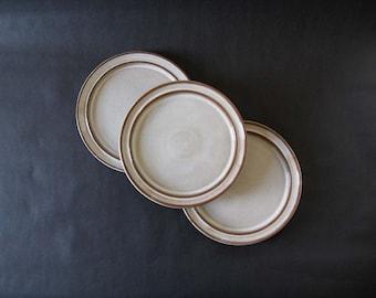 Set (3) Herluf Gottschalk-Olsen Stogo Stoneware Dinner Plates - Mørkøv, Denmark 1960s