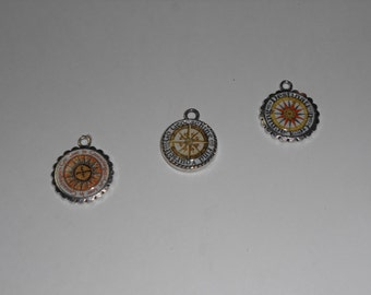 Geocache Silver Charms Set - Three Piece Weebledogs Own Set