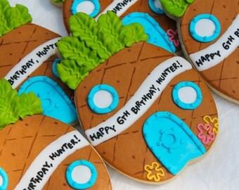 Spongebob Pineapple Hut Birthday Cookies