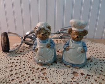 Vintage Otagirl Cooking Bears Salt and Pepper Shakers