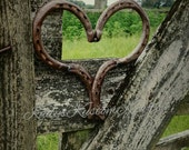 Rustic Horseshoe Heart, Country rustic decor,country Heart decor Horseshoe Hearts, Horseshoe homedecor,  Handcrafted Heart,Valentines Day
