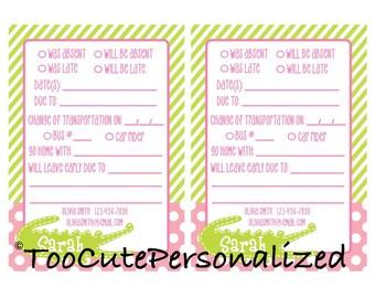 Custom Printable School Notes