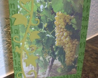 Mabon Card Grapes Fall Harvest Autumn Equinox