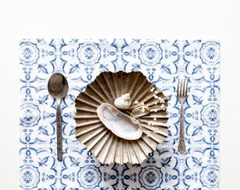 Mosaic Stone Washed Linen Placemat