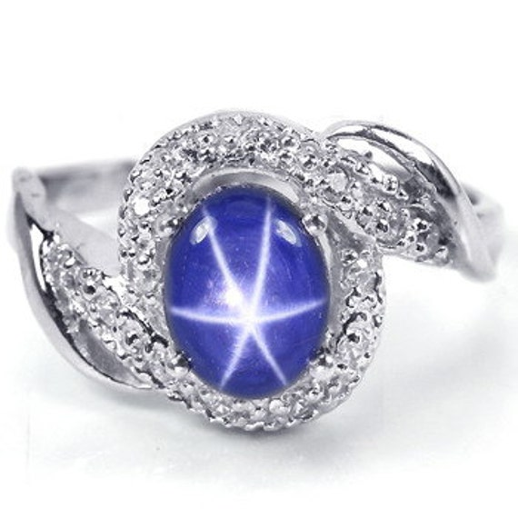 genuine star sapphire ring - photo #29