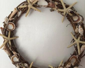 "Seashell-Starfish Wreath 14"""