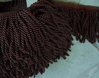 "Brown CHOCOLATE, Bullion Fringe, 6""long, By The Yard"