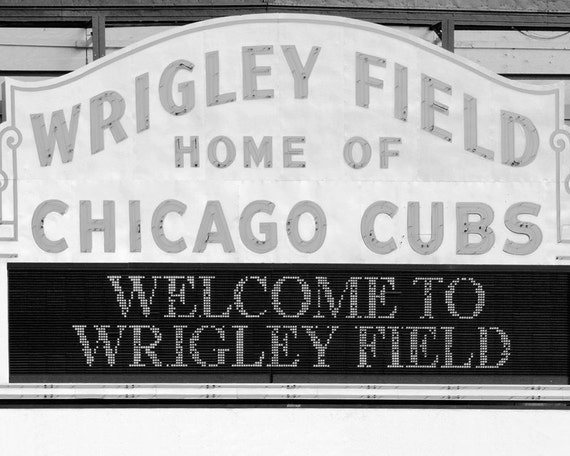 wrigley field coloring page - chicago cubs wrigley field photo print sports art by